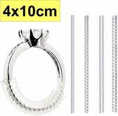 Fako Bijoux® - Ringverkleiner - Set - 4x10cm - Ring Verkleiner - Ring Adjuster + GRATIS zilverwerk doekje