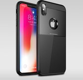 Let op type!! UNBREANK PC + TPU Invisible Airbag Shockproof Protective Case for iPhone XS Max (Black)