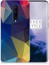 TPU Hoesje OnePlus 7 Pro Polygon Dark