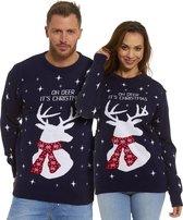 """Foute Kersttrui Dames & Heren - Christmas Sweater """"Oh Deer, It's Christmas"""" - Kerst trui Mannen & Vrouwen Maat M"""