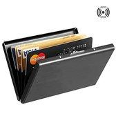 Handige Creditcard Houder | Anti-Diefstal Pasjeshouder | RFID | 6 pasjes | Zwart