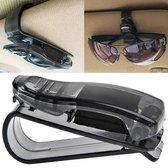 HMerch™ Zonnebrilhouder voor in Auto - Zonnebril Clip - Zonneklep - Zonnebril - Bril - Leesbril - Zon - Verkeersveilig - Zwart