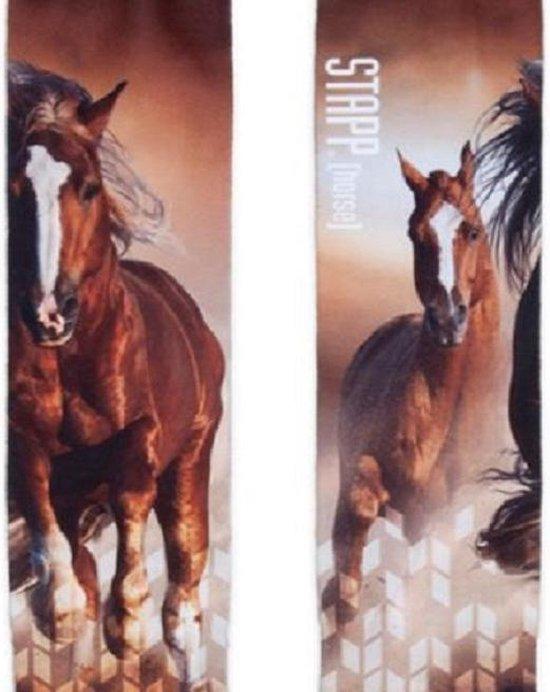 Ruiter sokken – paardrijsokken – kniekousen - Stapp Horse fotoprint - Paarden - maat 35/38
