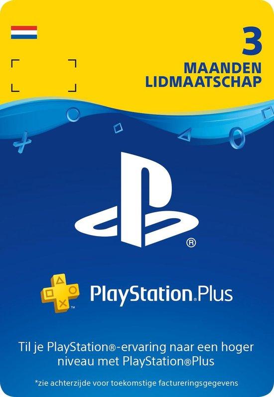 PlayStation Plus 3 maanden - PSN PlayStation Network Kaart (NL)