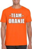 Sportdag team oranje shirt heren maat M
