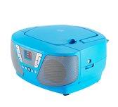 Bigben CD60BL - Draagbare Radio CD-Speler met 400 Stickers - Blauw