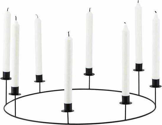 House Doctor Kandelaar Ring zwart metaal 50 x 11,5 cm