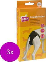 Adori Inlegkruis Hondenbroek Wit - Hondenloopsheid - 3 x Xsmall/Small