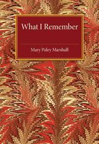 Boek cover What I Remember van Paley Marshall, Mary