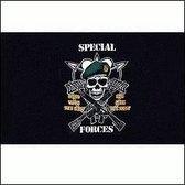 Special Army Forces vlag 90 x 150 cm - Leger thema decoratie artikelen