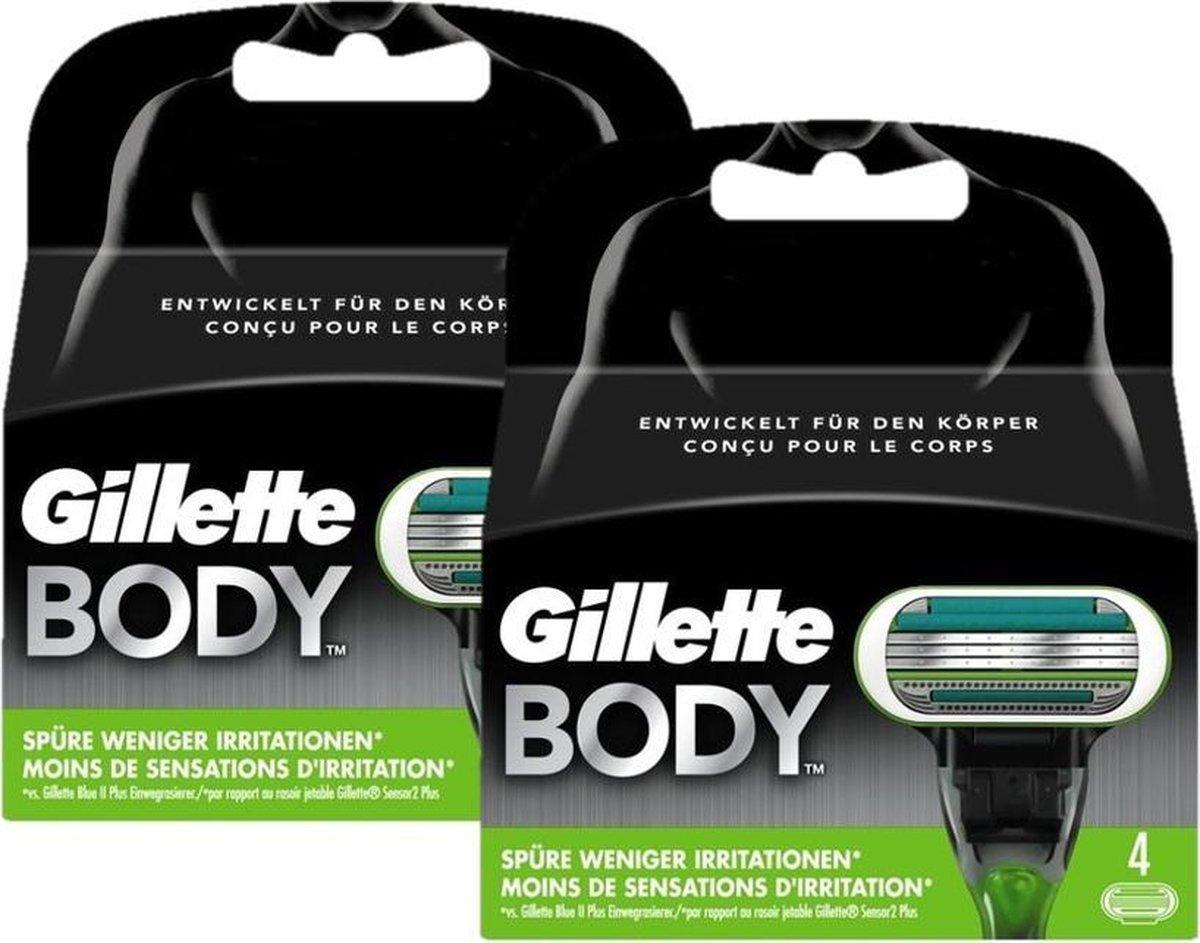 Gillette Scheermesjes Body 8 mesjes (2x4) - Gillette