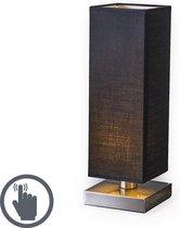Trio Lighting Tower Touch Tafellamp - Met dimmer - 1 lichts - L 120 mm - Zwart