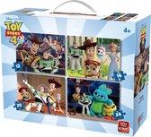 Disney 4 in 1 Puzzel Toy Story - Vier Kinderpuzzels in een Koffertje - King