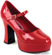 Funtasma Pumps -39 Shoes- Maryjane-50 US 9 Rood