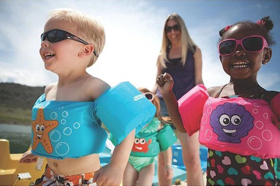 Zwemvest - Krab Aquablauw Design - One Size - Kind - 14-30 KG - 3-7 Jaar