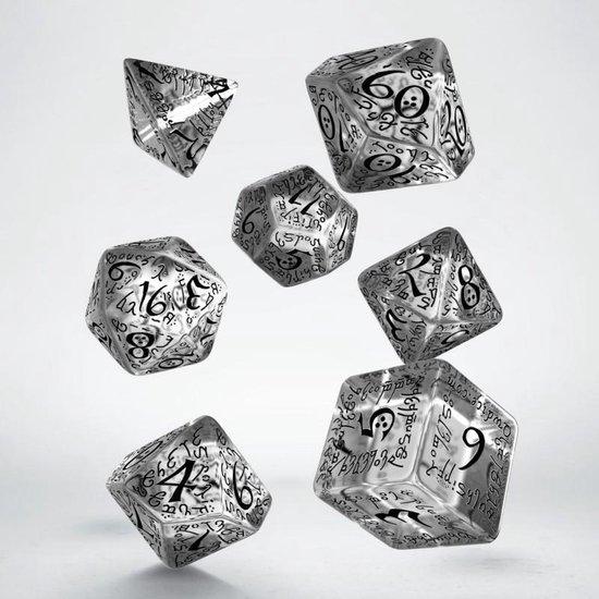 Afbeelding van het spel Elvish Translucent & black Dice Set polydice