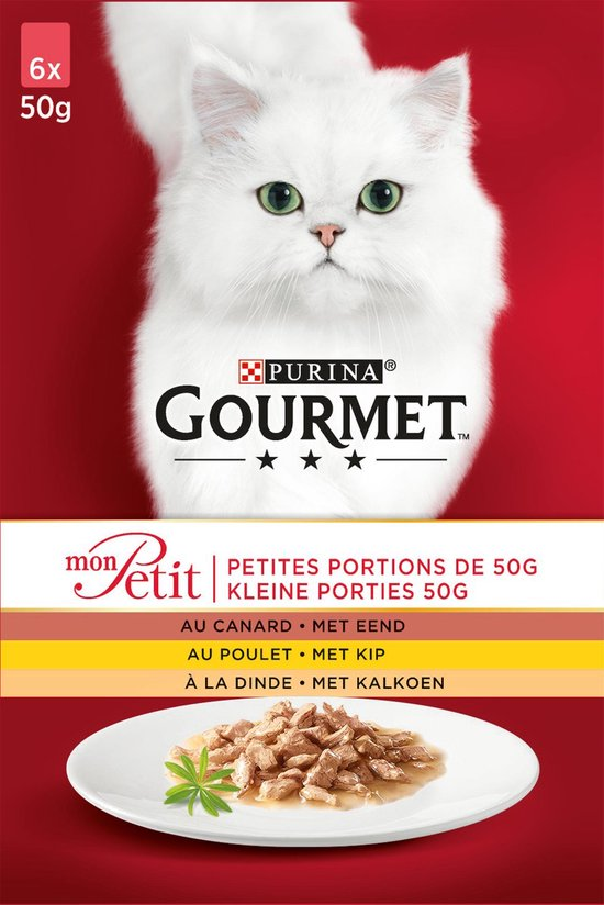 Gourmet Mon Petit - Kattenvoer Eend, Kip & Kalkoen - 24 x 50 g