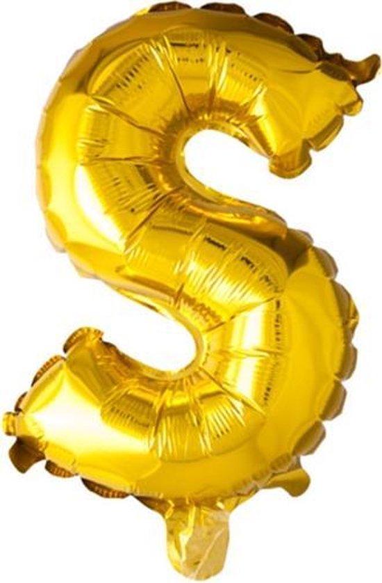 ballon - 100 cm - goud - letter - S