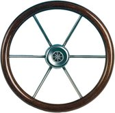 Teleflex Leader Wood 6-spaaks mahonie Stuurwiel Ø 55cm