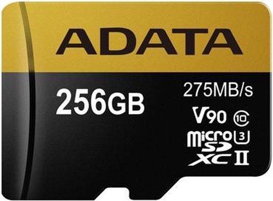 ADATA Premier ONE V90 flashgeheugen 256 GB MicroSDXC Klasse 10 UHS-II