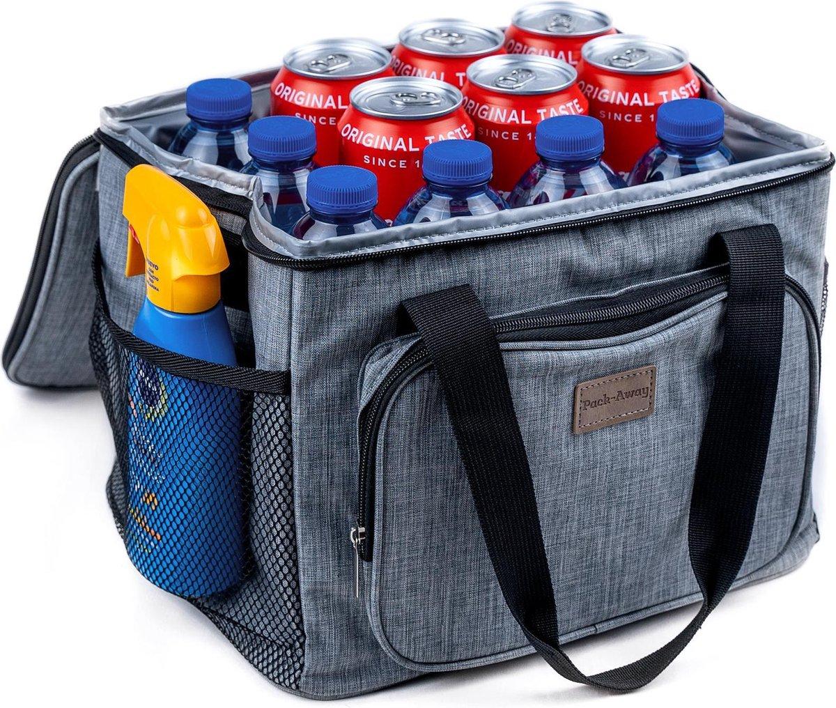 Packaway 3 Laags Ge soleerde Koeltas - Lunchtas 15 liter - Grijs