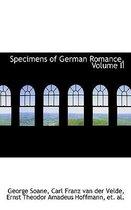 Specimens of German Romance, Volume II
