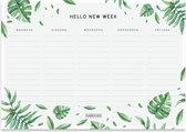 Fabrikten Botanisch Weekplanner – A5 – Groen