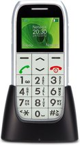 Profoon PM-595 Big Button GSM - Met alarmknop en oplaadstation - Zilver
