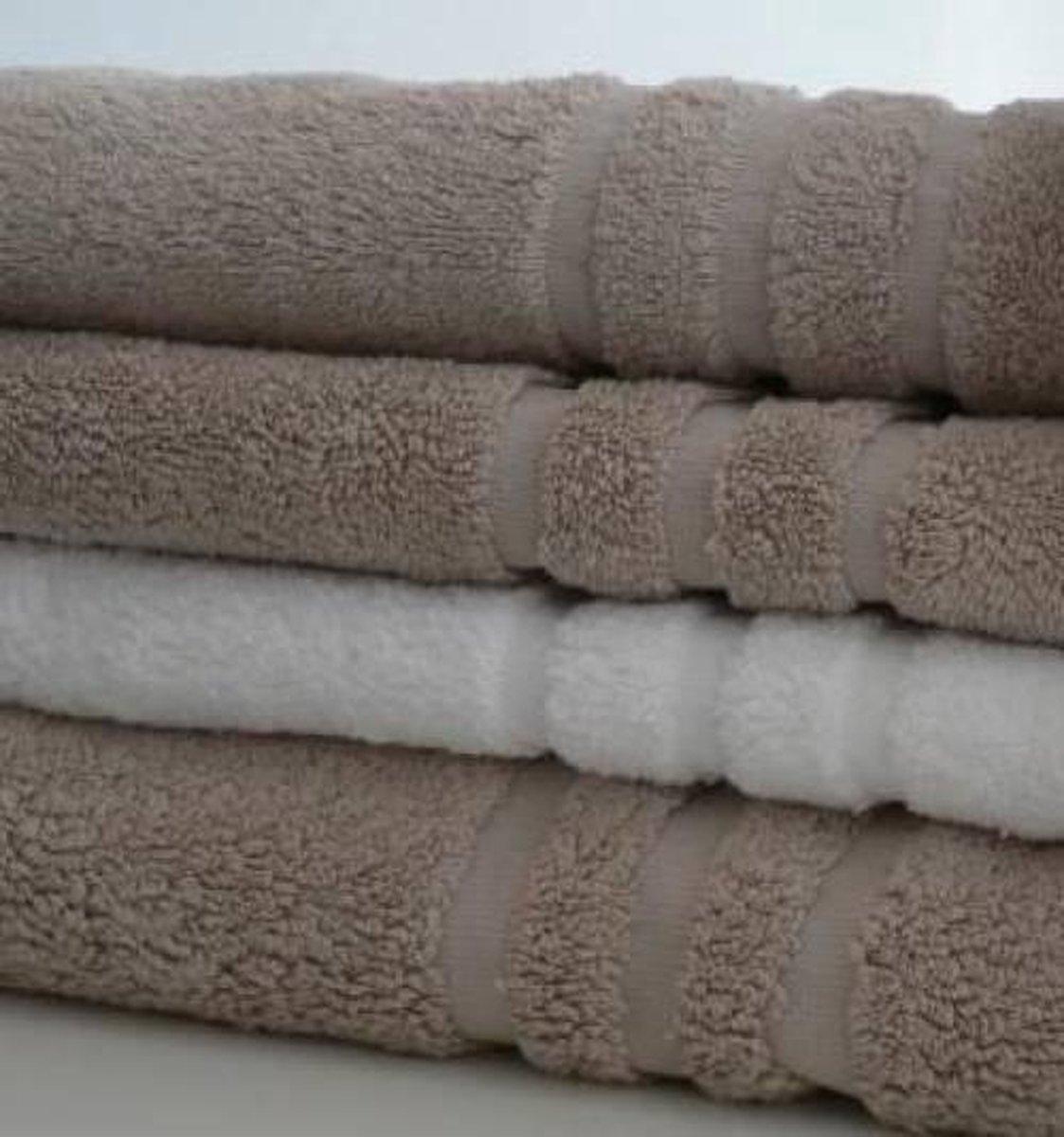 Handdoek - 100% Egyptisch katoen- Lifestyle Deluxe 600 gr/m2 - 50x100 cm - Caramel - Set van 6 - Cotton Factory