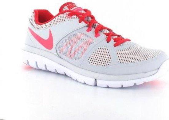Nike Wmns Flex 2014 Run Hardloopschoenen Dames Maat 36,5 Licht Grijs;Rood;Fluor Roze