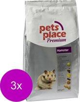 Pets Place Hamster Luxe Menu Premium - Hamstervoer - 3 x 600 g