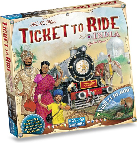 Ticket to Ride India & Zwitserland
