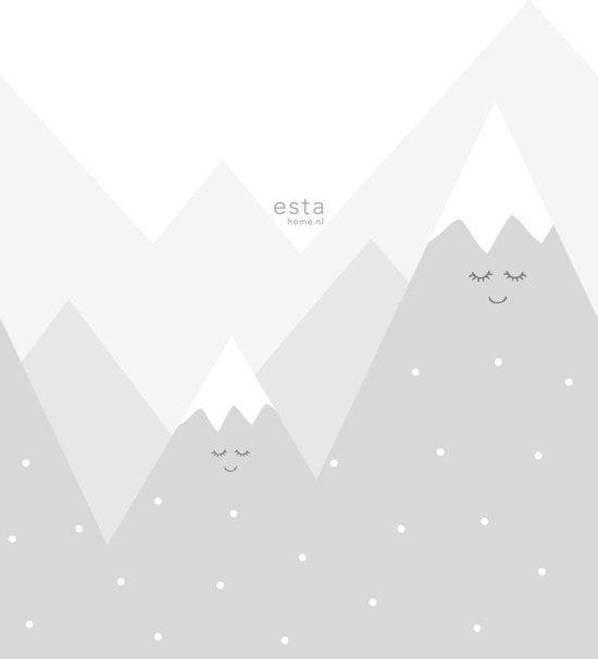 ESTAhome fotobehangpapier bergen lichtgrijs - 158840 - 1.86 x 2.79 m