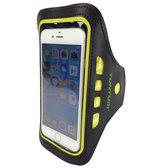 Tunturi Sport Telefoonarmband - Sportarmband - Hardloop armband - Smartphone armband - met Ledverlichting Geel