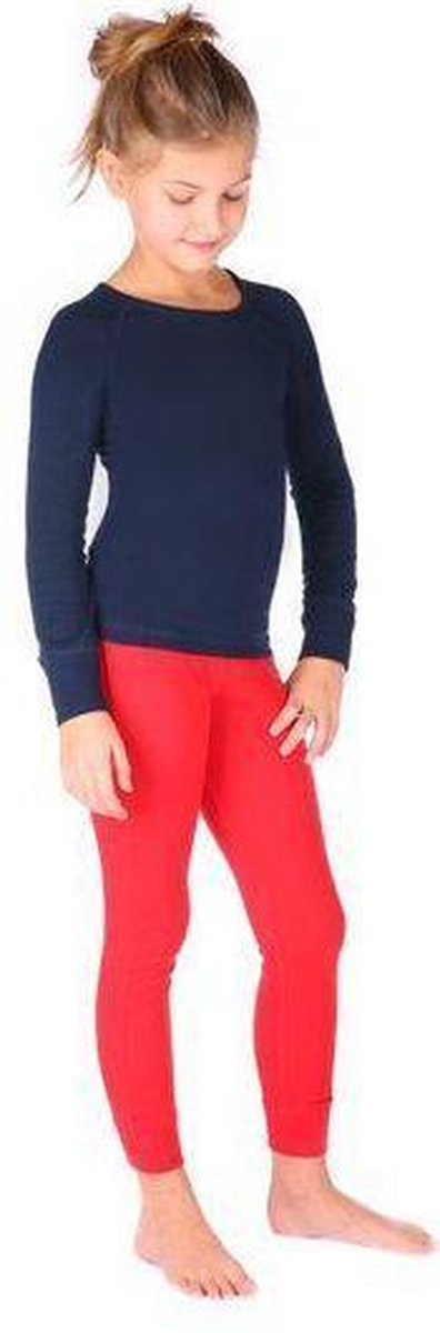 Thermo4sports - thermokleding - thermoset donkerblauw - rood maat 128