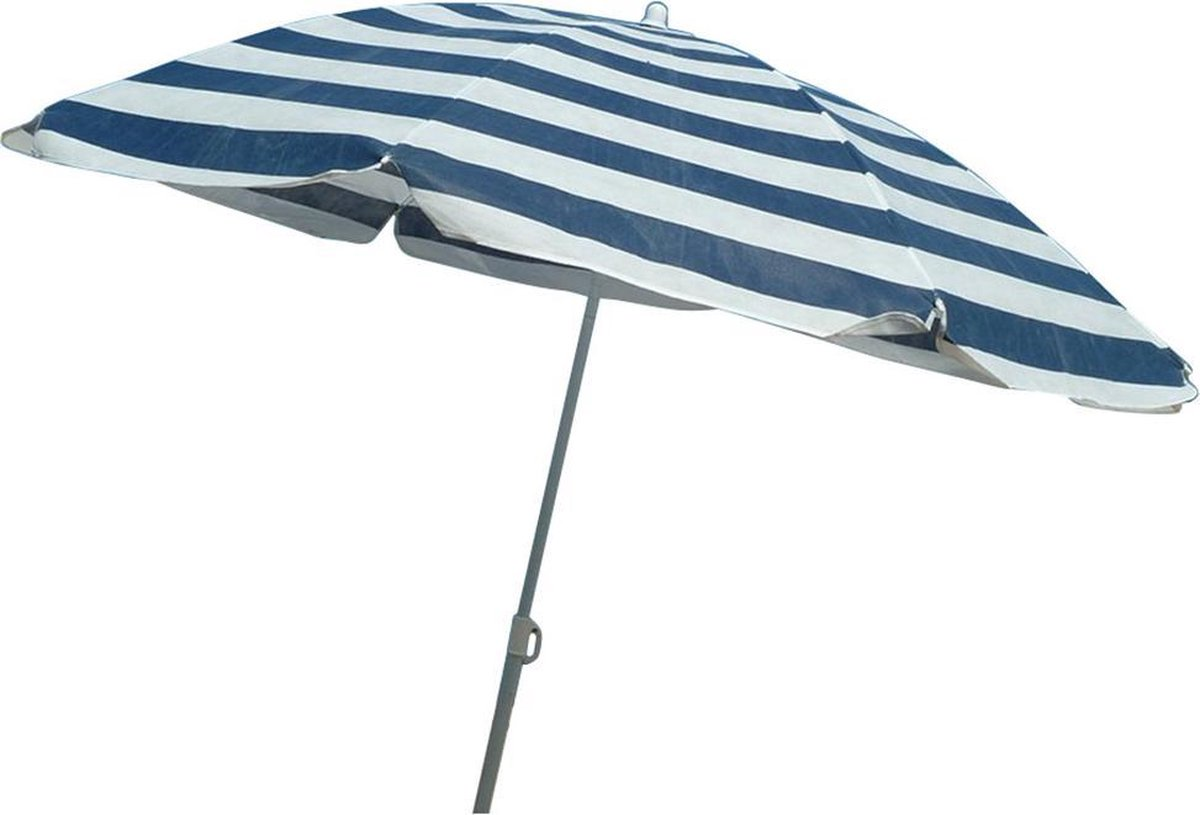 Benson parasol  160 cm blauw/wit