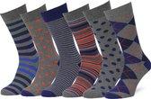 Easton Marlowe Sokken Dames Heren 39-42 Grijs - leuke sokken mannen dames - vrolijke herensokken damessokken - fun  6 pack #44