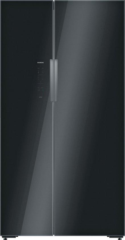 Koelkast: Siemens KA92NLB35 iQ700 - Amerikaanse koelkast - Zwart, van het merk Siemens