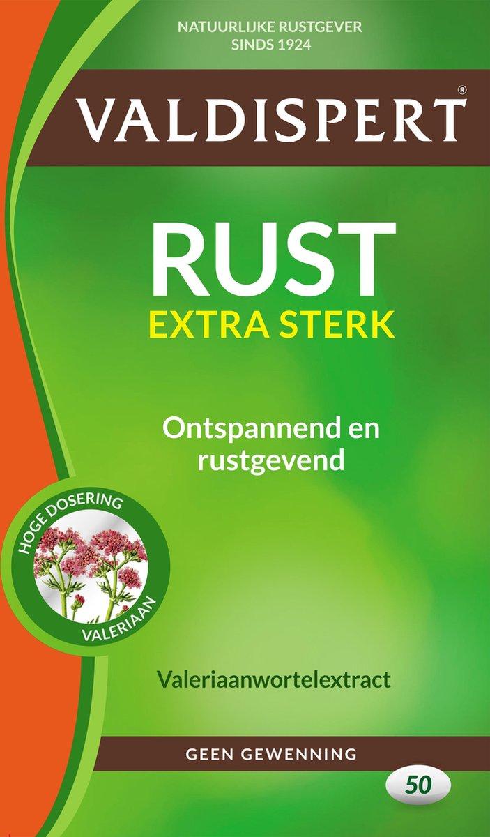 Valdispert Rust Extra Sterk - Valeriaan - 50 tabletten - Natuurlijke Rustgever
