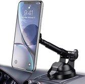 Universele zuignap magneet telefoonhouder voor de auto & motor scooter - Handsfree - Mobiel GSM houder - Accessories - Magnetic dashboard smartphone mobile car phone holder - Apple iPhone - Android
