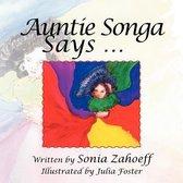 Boek cover Auntie Songa van Sonia Zahoeff