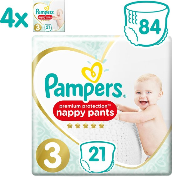 Pampers Premium Protection Pants Luierbroekjes - Maat 3 (6-11 kg) - 84 stuks - Maandbox - Pampers