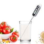 Digitale Kook Thermometer voor Keuken Binnen en Buiten \Koken, Melk, Vlees, BBQ, Water, Thee - Wit