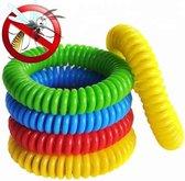 10 Stuks Anti Muggenarmband - Voor Kinderen en Volwassenen - Natuurlijk en Zonder Deet - Verschillende kleuren - Anti Muggenbeet - Anti Insectenbeet - Muggen Bescherming - Insecten Bescherming - Anti Muggen Armband