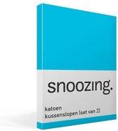 Snoozing - Katoen - Kussenslopen - Set van 2 - 60x70 cm - Turquoise