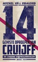 Boekomslag van '14 gemiste oproepen van Cruijff'