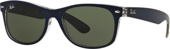 Ray-Ban RB2132 6188 - zonnebril - New Wayfarer (Bicolor) - Blauw / Groen Klassiek G-15 - 55mm