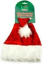 Luxe Kerstmuts Honden/Katten - Dierenkleding - Rood/Wit - 40 cm