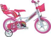 Kinderfiets Dino Bikes eenhoorn 12 inch (124RLUN)