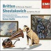 Shostakovich: Symphony No. 10; Britten: Sinfonia da Requiem